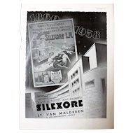 L'Illustration French Magazine Original  SILEXORE DECO Advertisement 1937