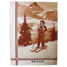 L'IIlustration French Magazine Original 1937 NESTLE Advertisement