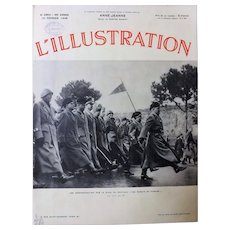 Mussolini on Parade - L 'Illustration Front Cover February 1938