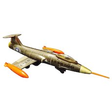 Rare Aoshin Shoten USAF  F-104 STARFIGHTER Friction Tin Toy Plane