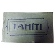 TAHITI Postcard Booklet Circa 1910-1920