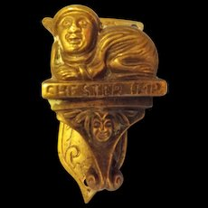 CHESTER IMP Brass Door Knocker