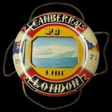 P& O Liner Canberra Souvenir Lifebuoy 1972