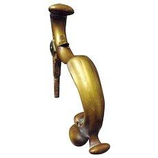Georgian Solid Brass Door Knocker - Circa 1800 - 1810