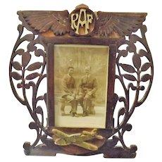 World War Two RAF Hand Made Photo Frame