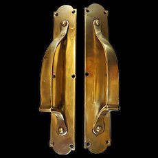 GENUINE 1905 Art Nouveau Pair of Door Pulls