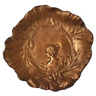 Superb French Art Nouveau Copper Dish - Jaques Callot Circa 1880-1900