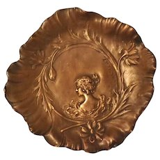 Superb French Art Nouveau Copper Dish - Jaques Callot Circa 1880-1900
