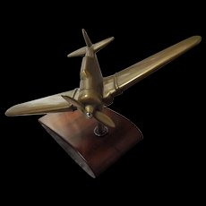 Trench Art 'HARVARD' Air Trainer Aeroplane - WWII