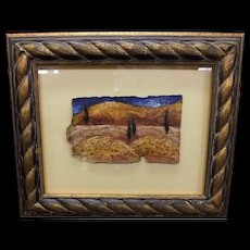 "Original Mixed Media Art ""Umbria Scape 2"" By Nathan Mac Ryde"