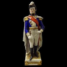 Figurine of Napoleon General LANNES  by Schei -Alsbach Porzelain Germany