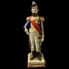 A Schei -Alsbach Porzelain Figurine of Napoleon's General Mortier