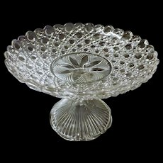 Stunning Edwardian Hobnail Crystal Glass Tazza - Compote