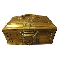 Old Brass Trinket Box - circa 1890-1910 England