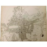 """An Original Atlas Map of  MARSEILLE Circa 1840 Published By """"The Society For The Diffusion of Useful Knowledge"""""""