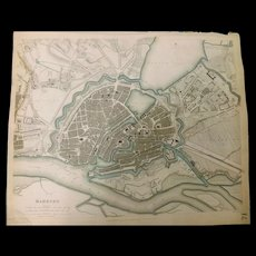 "An Original Atlas Map of  HAMBURG Published By ""The Society For The Diffusion of Useful Knowledge"""