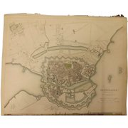 """An Original Atlas Map of COPENHAGEN Published By """"The Society For The Diffusion of Useful Knowledge"""""""