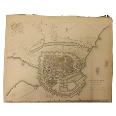 "An Original Atlas Map of COPENHAGEN Published By ""The Society For The Diffusion of Useful Knowledge"""
