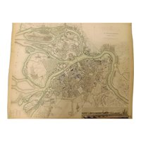 """An Original Atlas Map of St. PETERSBURG Circa 1834 Published By """"The Society For The Diffusion of Useful Knowledge"""""""