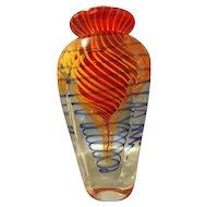Stunning Murano Sommerso Vase Dated 2001