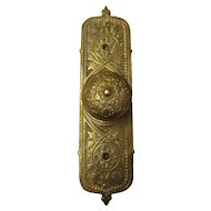 Victorian Door Pull & Ornate Back Plate