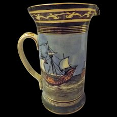 Royal Doulton Art Deco 'Galleons' Large Jug -Circa 1923-1927