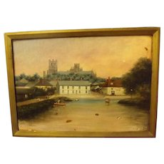 'River Ouse - Ely'  Oil on Board  By John Charles Veitch Circa  1890 - 1900