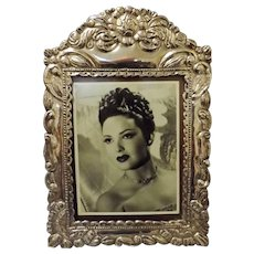 Gorgeous Peruvian Ornate 925 Grade Silver Photo Frame - Colonial Style