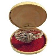 Swiss Sterling Silver & Marcasite Ladies Wrist Watch - Circa 1940's-1950's