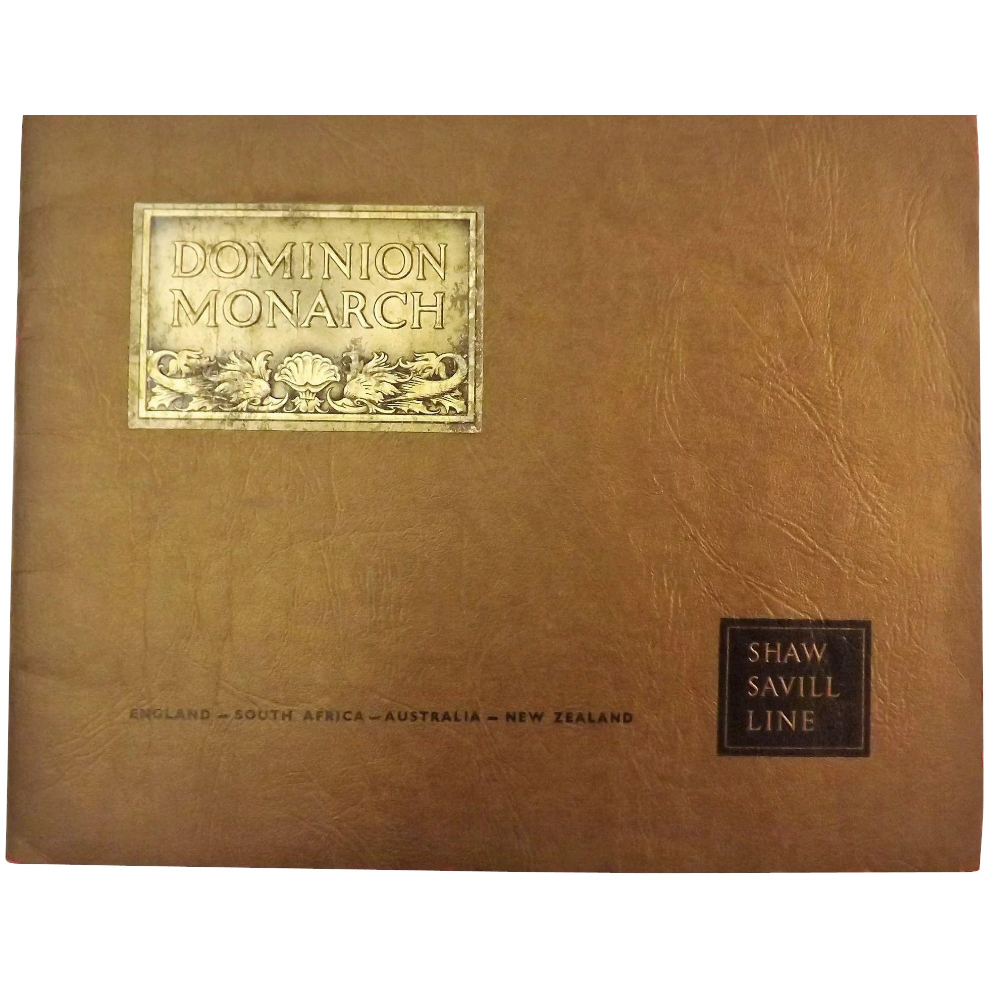 Dominion Monarch Liner 1930's Promotional Brochure - Shaw Savill Line