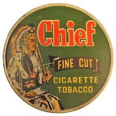 CHIEF Brand Fine-Cut Cigarette Tobacco Tin - New Zealand