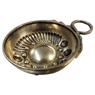 French 19th Century 950 Silver Tastevin or Wine Taster