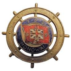 Ships Souvenir Badge T.S.S. Monowai - Union Steamship Company