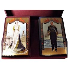 1953 Coronation Of Queen Elizabeth II  De La Rue Boxed Playing Cards
