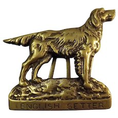 English Setter Solid Bras Door Knocker