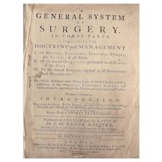 RARE - A General System of Surgery in Three Parts-Second Edition 1745