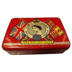 OXO Cubes Tin - Queen Elizabeth II  Coronation 1953