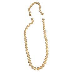 "Gorgeous  Freshwater ""Semi-Baroque"" Pearl Necklace & Bracelet"