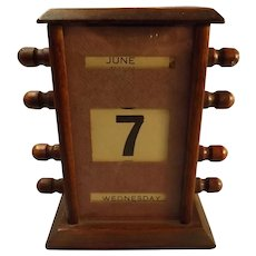 Edwardian Perpetual Day-Date Desk Calendar