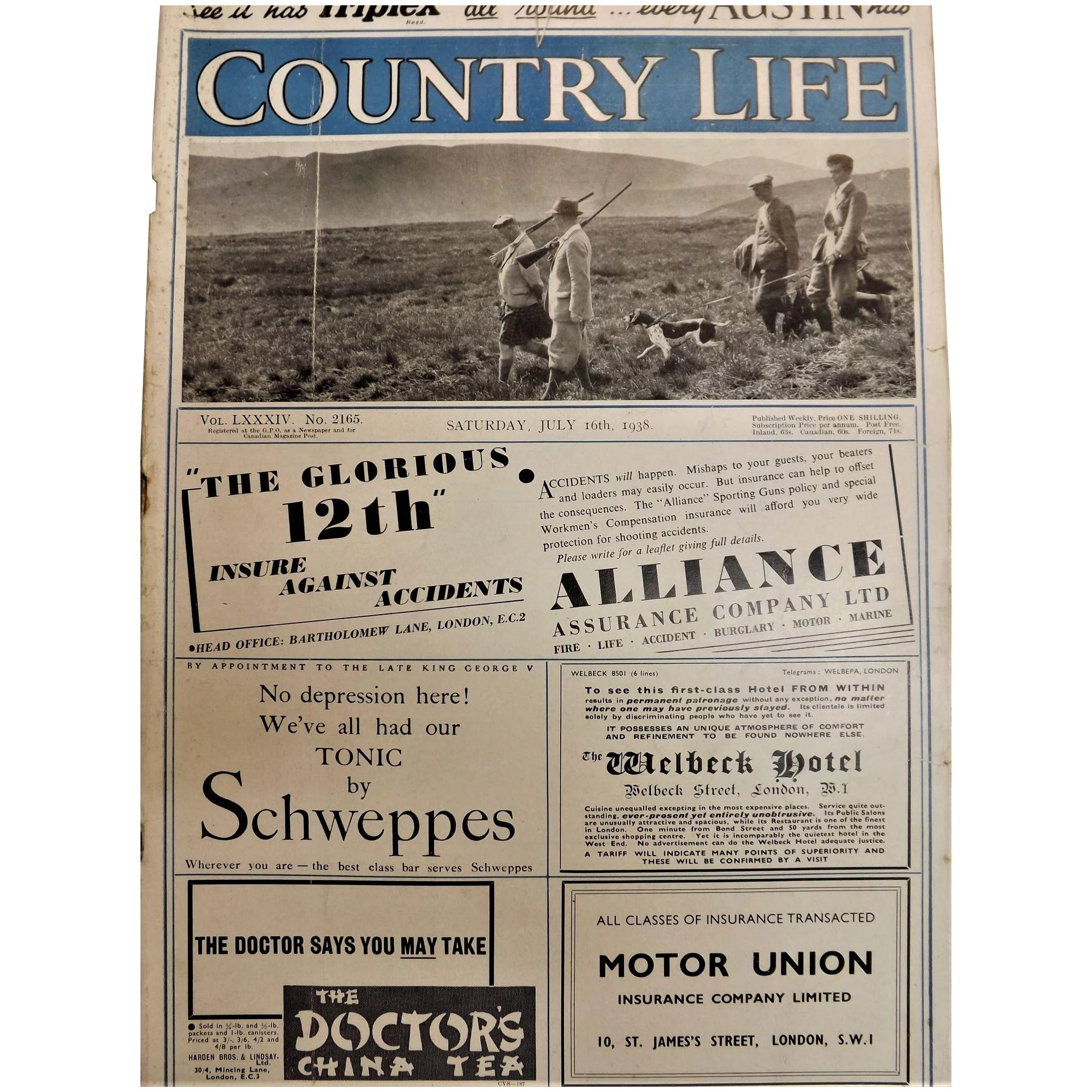 Country Life Magazine Saturday July 16th 1938