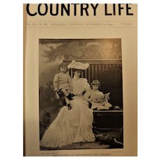 Country Life Journal Bound Volume Saturday July 5th to Saturday 27th December 1902