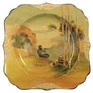 "Royal Doulton Square ""Pipes of Pan"" Plate"