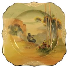 "Royal Doulton Square ""Pipes of Pan"" Plate"
