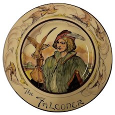 "Royal Doulton Cabinet Plate ""The Falconer"" D 6279"