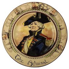"Royal Doulton Cabinet Plate ""The Admiral"" D 6278"