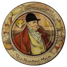 "Royal Doulton Cabinet Plate "" The  Hunting Man"" D 6282"