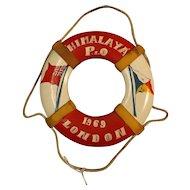 S.S. Himalaya Souvenir Mini Lifebuoy - 1969