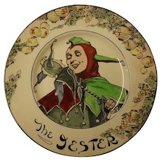 "Royal Doulton Cabinet Plate "" The Jester"" D 6277"