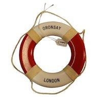 S.S. Oronsay Souvenir Miniature Lifebuoy - Orient Line