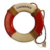 R.M.S. Carmania Souvenir Miniature Lifebuoy - Cunard Line